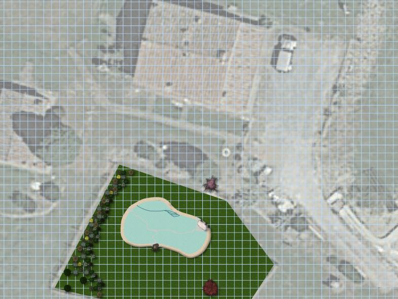 Realizzazione giardini a Firenze - Planimetria