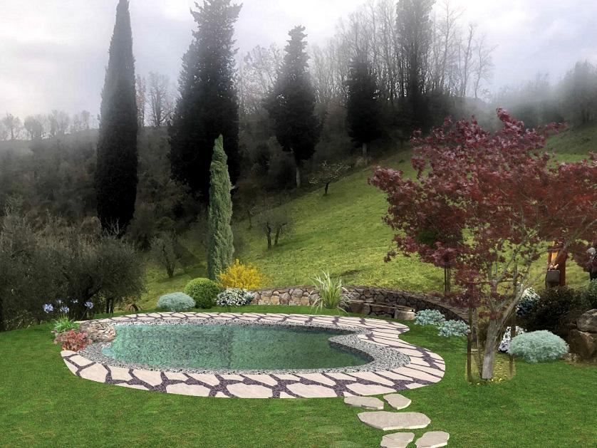 Realizzazione giardini a Firenze - Rendering