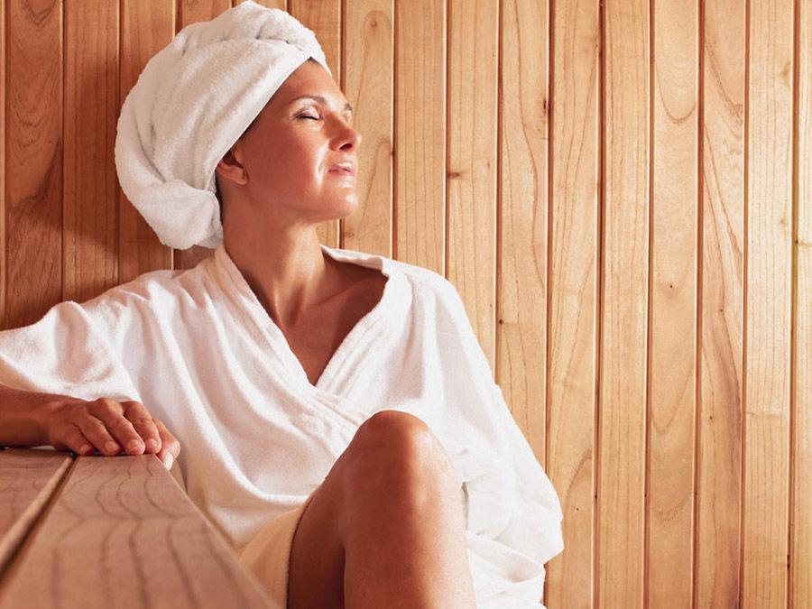 Un Momento Di Relax In Sauna