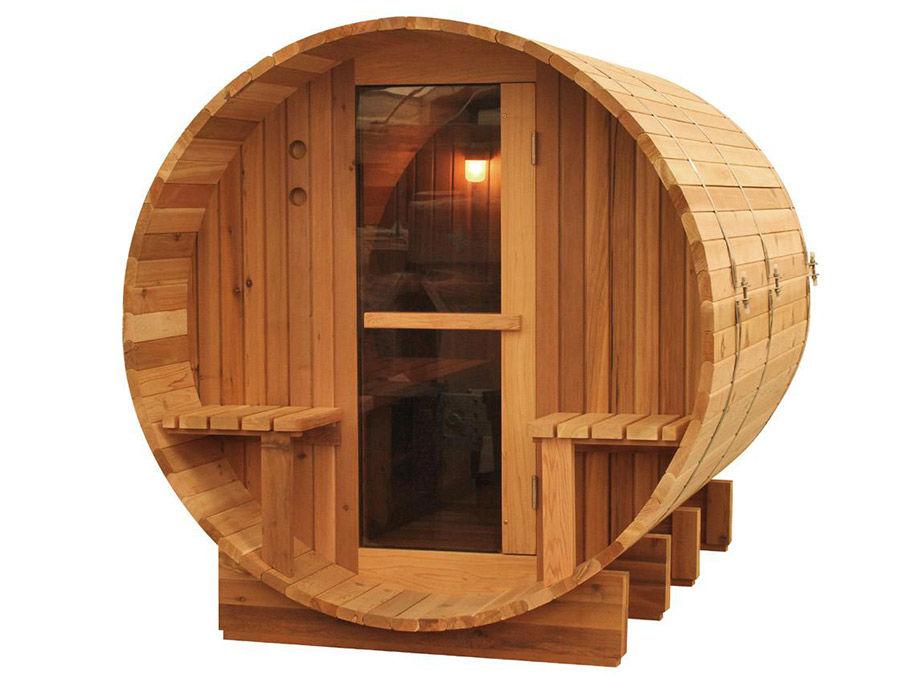 Sauna A Botte In Legno Di Cedro